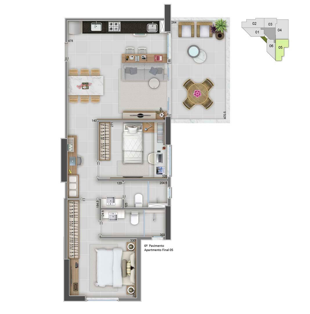 Apartamento Final 05 - 78m²