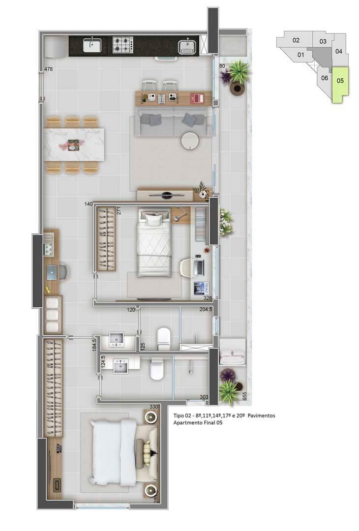 Apartamento Final 05 - 73m²