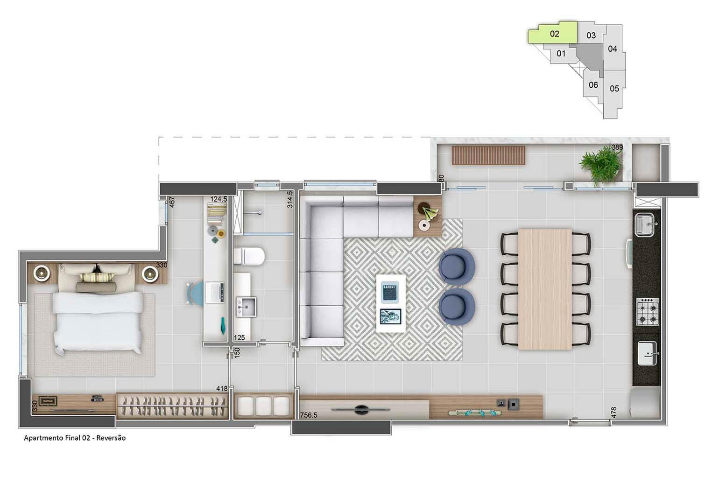 Apartamento Final 02-68m²