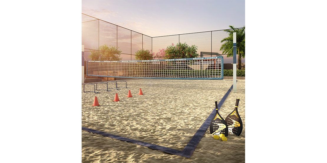 Quadra de beach tennis