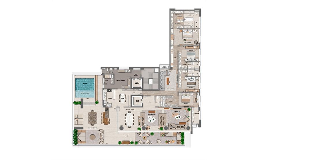 Apartamento Maison: 3º pavimento