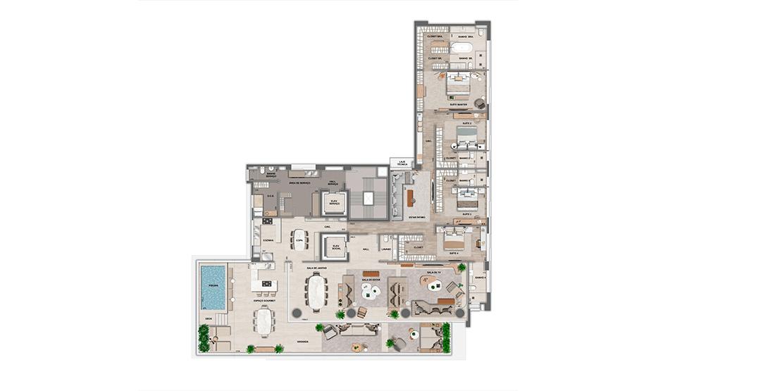 Apartamento Maison: 4º pavimento